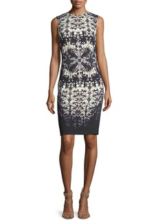 Roberto Cavalli Abstract-Print Sleeveless Fitted Dress