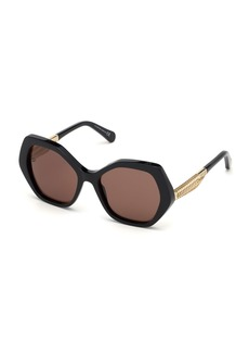 Roberto Cavalli Acetate & Metal Round Sunglasses