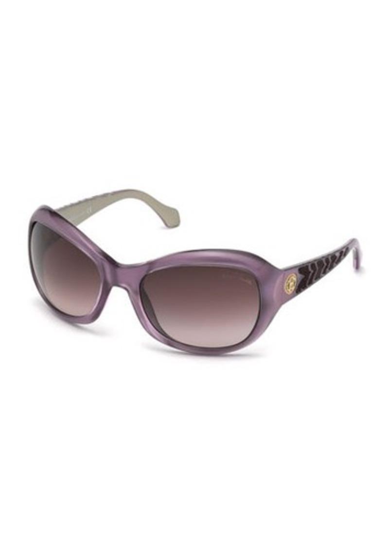 Roberto Cavalli Aldhibah Round Injected Wrap Sunglasses