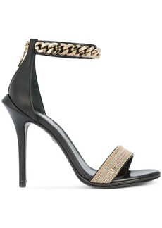 Roberto Cavalli ankle length sandals - Black