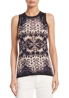 Roberto Cavalli Burnout Shell Top