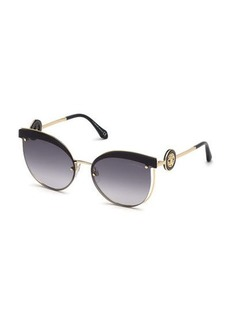 Roberto Cavalli Butterfly Cutout Metal Sunglasses