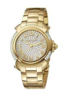 Roberto Cavalli by Franck Muller 40mm Yellow Golden Stainless Steel Bracelet Watch