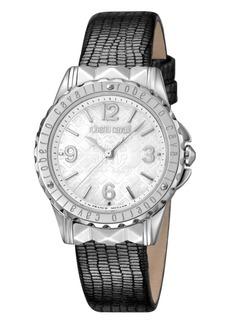 Roberto Cavalli By Franck Muller Women's Swiss Quartz Gray Leather Strap Watch, 34mm