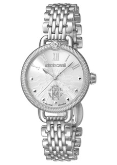 Roberto Cavalli By Franck Muller Women's Swiss Quartz Silver Stainless Steel Bracelet Watch, 30mm