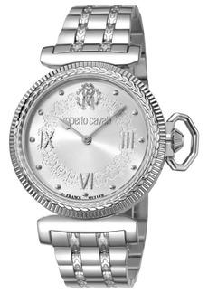 Roberto Cavalli By Franck Muller Women's Swiss Quartz Silver Stainless Steel Bracelet Watch, 38mm