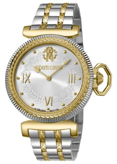 Roberto Cavalli By Franck Muller Women's Swiss Quartz Two-Tone Gold Stainless Steel Bracelet Watch, 38mm