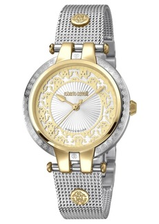 Roberto Cavalli By Franck Muller Women's Swiss Quartz Two Tone Stainless Steel Bracelet Watch, 34mm