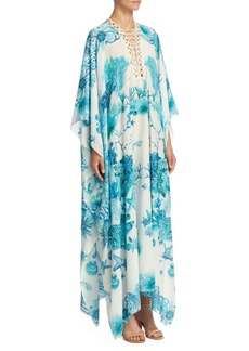 Roberto Cavalli Coral Reef Caftan Dress