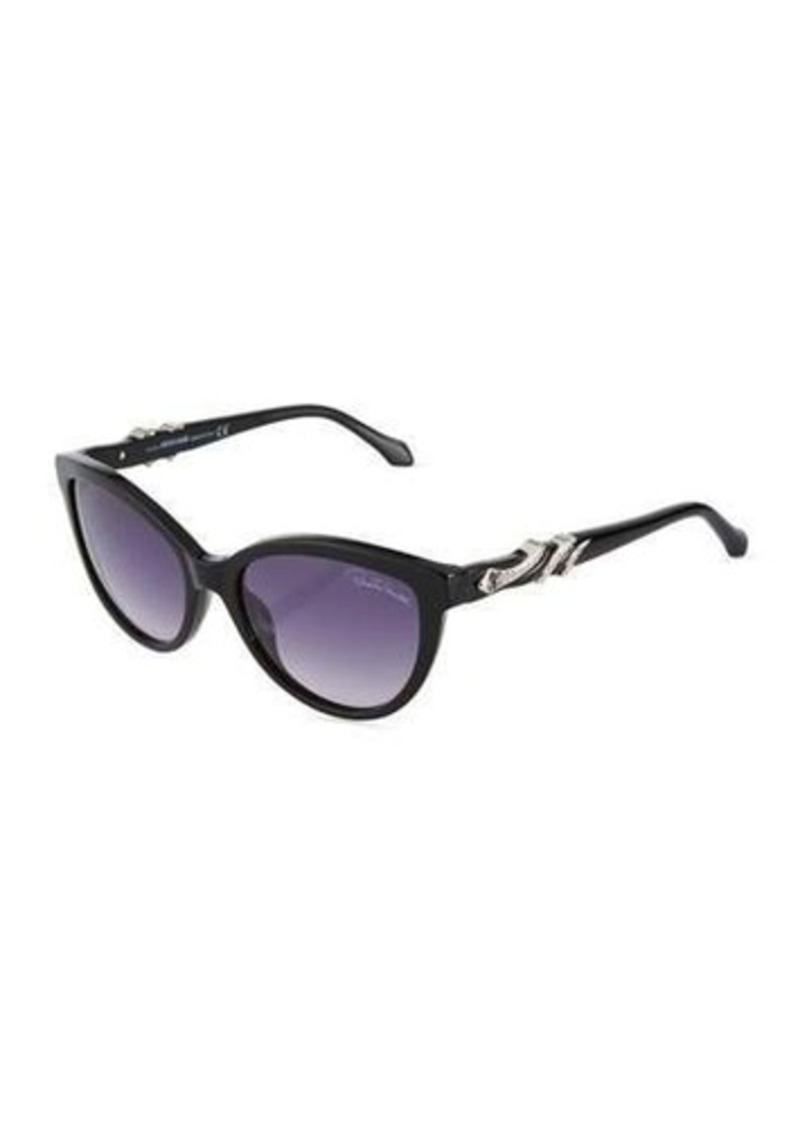 Roberto Cavalli Crystal Snake-Wrapped Cat-Eye Sunglasses