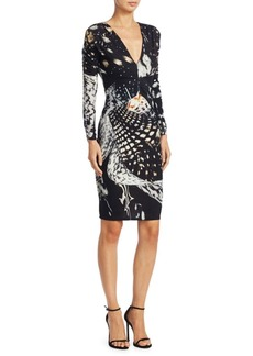 Roberto Cavalli Deep V-Neck Knit Dress