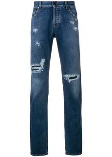 Roberto Cavalli distressed regular-fit jeans - Blue