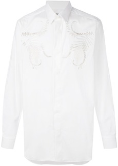 Roberto Cavalli embroidered concealed placket shirt - White