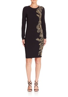 Roberto Cavalli Embroidered Long-Sleeve Dress