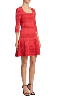Roberto Cavalli Fit-And-Flare Knit Dress