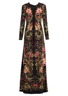 Roberto Cavalli Galaxy Garden-print crepe gown