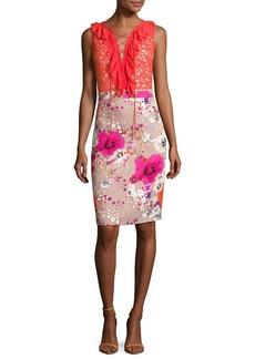 Roberto Cavalli Garden of Eden Lace-Up Dress