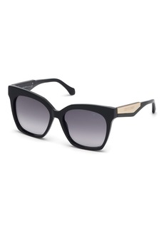 Roberto Cavalli Gradient Rectangle Acetate Sunglasses