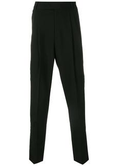 Roberto Cavalli grosgrain trim trousers - Black