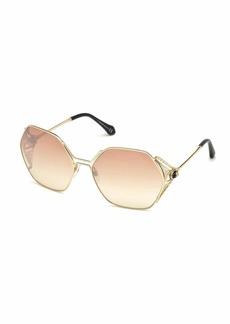 Roberto Cavalli Hexagon Gradient Metal Sunglasses  Pink