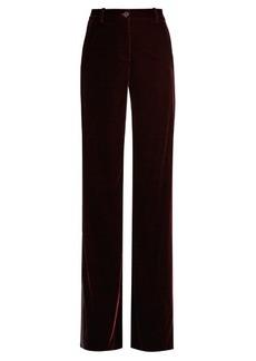 Roberto Cavalli High-rise wide-leg velvet trousers
