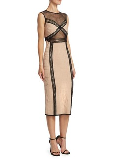 Roberto Cavalli Jacquard Midi Dress