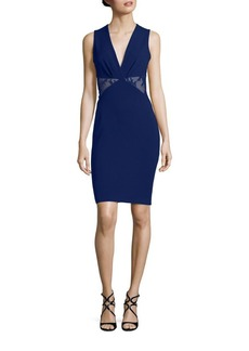 Roberto Cavalli Lace Inset Sheath Dress