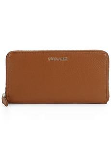 Roberto Cavalli Leather Zip Around Wallet