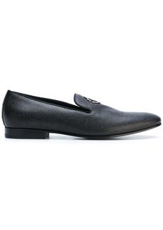 Roberto Cavalli logo loafers - Black