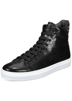 Roberto Cavalli Men's Embossed High-Top Fashion Sneakers Men's Shoes