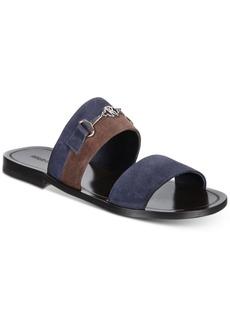 Roberto Cavalli Men's Giamaica Suede Colorblock Sandals Men's Shoes