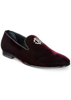 Roberto Cavalli Men's Metal Crest Velvet Loafers Men's Shoes