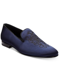 Roberto Cavalli Men's Satin Embroidered Loafers Men's Shoes