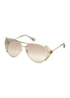 Roberto Cavalli Metal Aviator Sunglasses