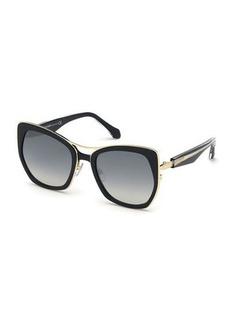 Roberto Cavalli Metal Butterfly Sunglasses