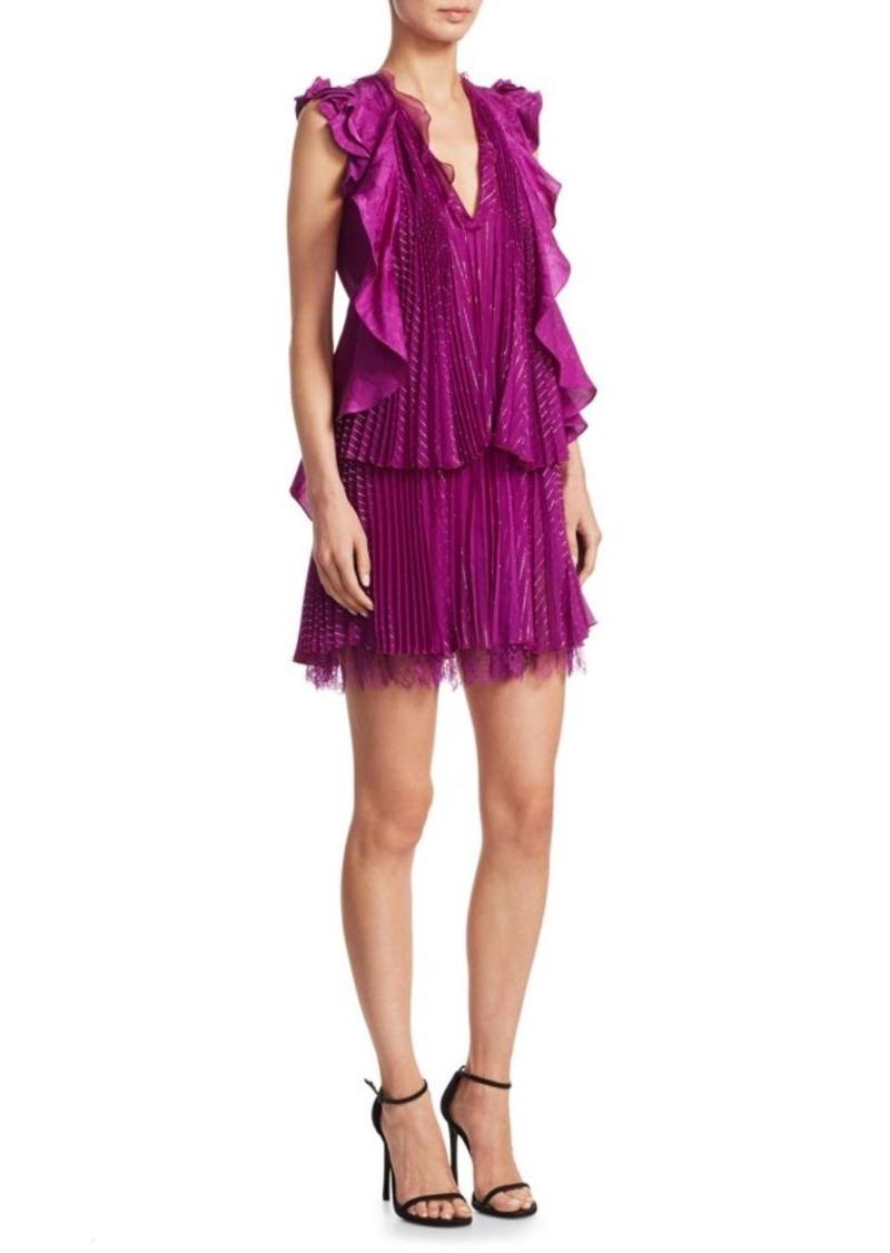 951cbea393 Metallic Ruffle Dress. Roberto Cavalli