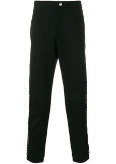 Roberto Cavalli micro studded panel trousers - Black