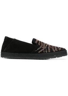 Roberto Cavalli microstud slippers - Black