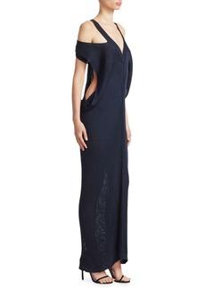 Roberto Cavalli Off-Shoulder Rib-Knit Dress