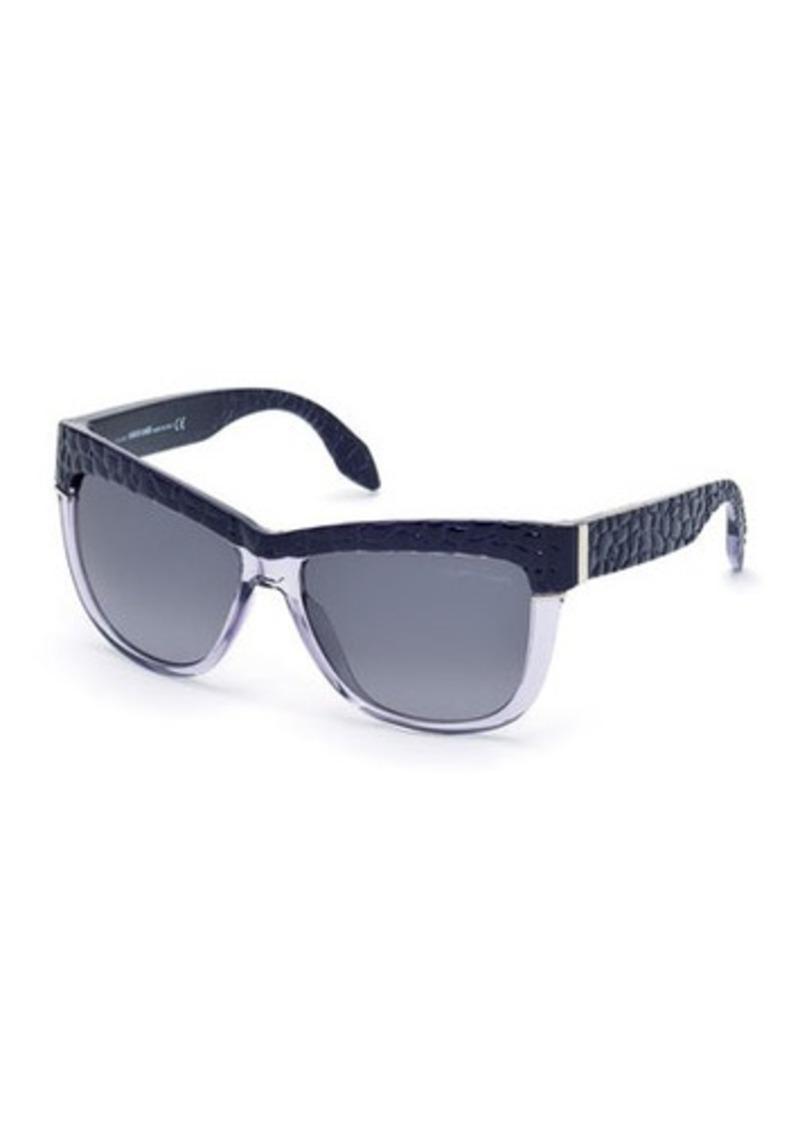 Roberto Cavalli Pebbled Retro Plastic Butterfly Sunglasses