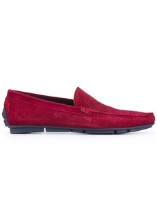 Roberto Cavalli perforated loafers - Red