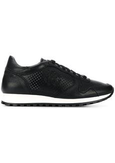 Roberto Cavalli perforated runner sneakers - Black