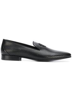 Roberto Cavalli perforated slipper loafers - Black