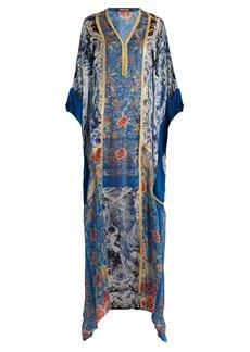 Roberto Cavalli Phoenix-print silk-satin gown