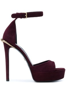 Roberto Cavalli platform sandals - Pink & Purple