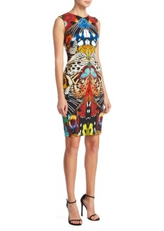 Roberto Cavalli Punto Stoffa Butterfly-Print Dress