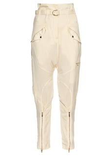 Roberto Cavalli Relaxed-leg dropped-crotch satin trousers