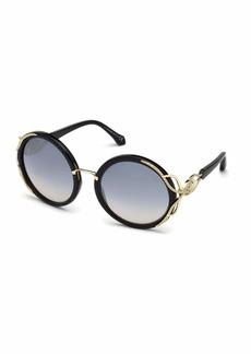 Roberto Cavalli Round Gradient Acetate Sunglasses
