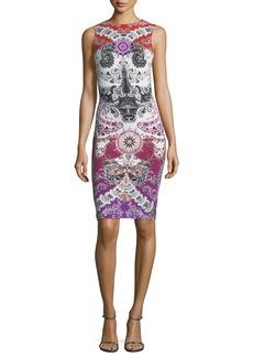 Roberto Cavalli Sleeveless Printed Jersey Dress