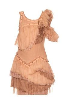 Roberto Cavalli Sleeveless ruffled silk-chiffon dress